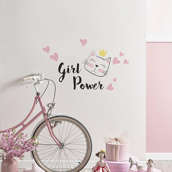scritta adesiva camerette - girl power