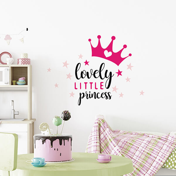 scritta adesiva camerette - lovely princess