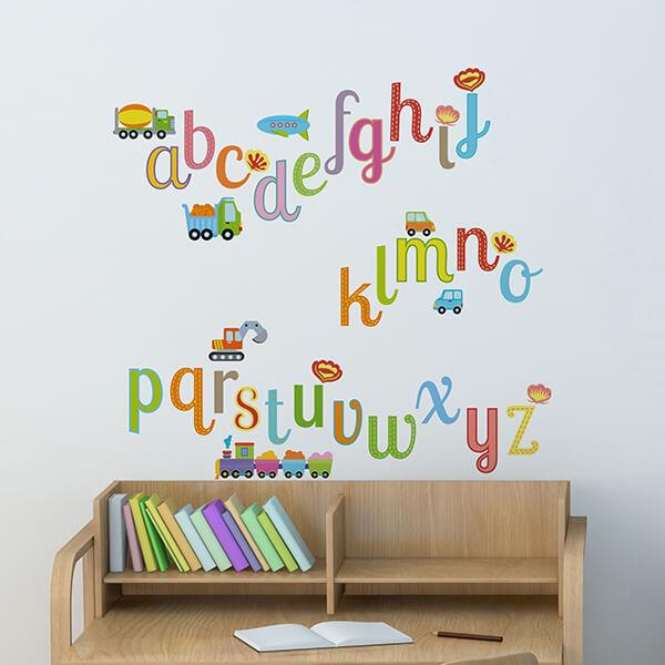 scritta adesiva camerette - alfabeto