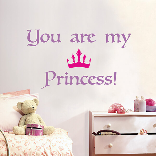 scritta adesiva camerette - princess