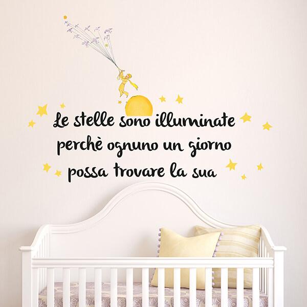scritta adesiva camerette - piccolo principe
