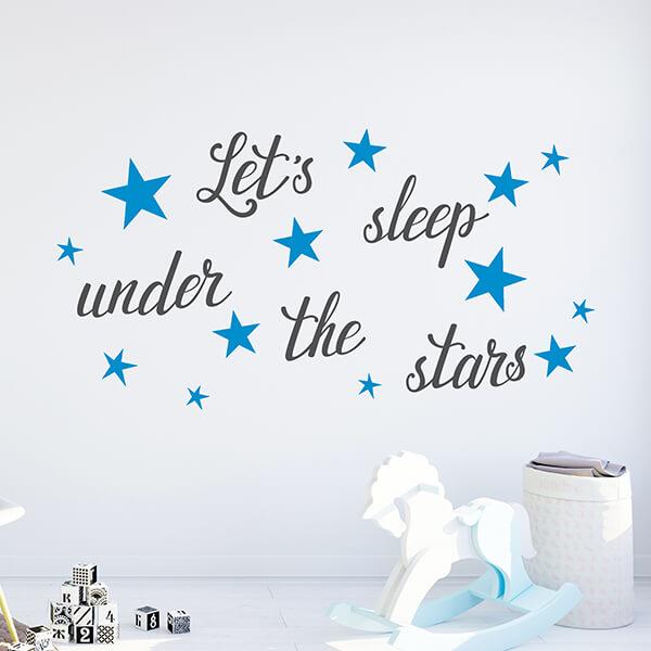 scritta adesiva camerette - let's sleep