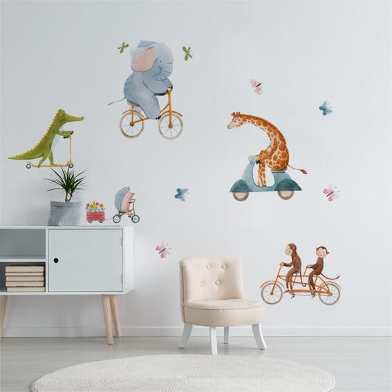 adesivo murale - riding animals