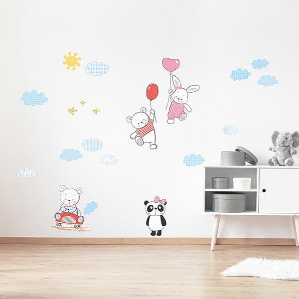 adesivo murale - funny bears