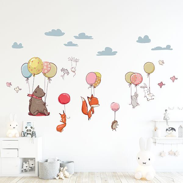 adesivo murale - flying animals