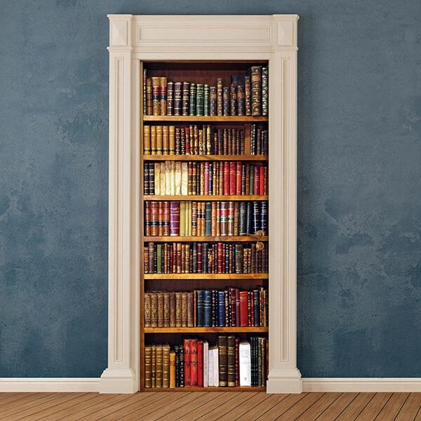 rivestimento per porta - libreria