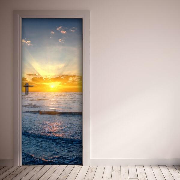 rivestimento per porta - tramonto