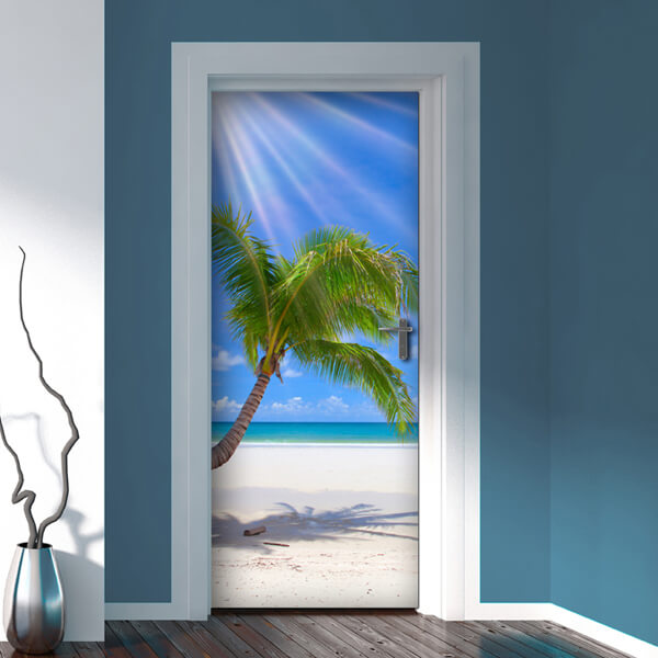 rivestimento per porta - tropical beach