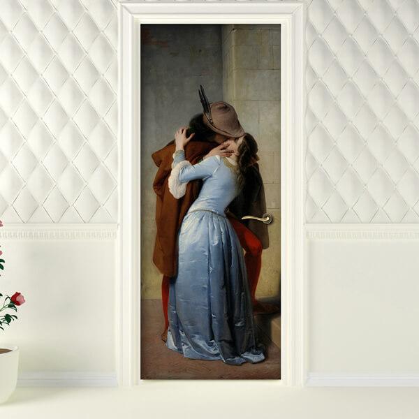 rivestimento per porta - Il bacio - Francesco Hayez