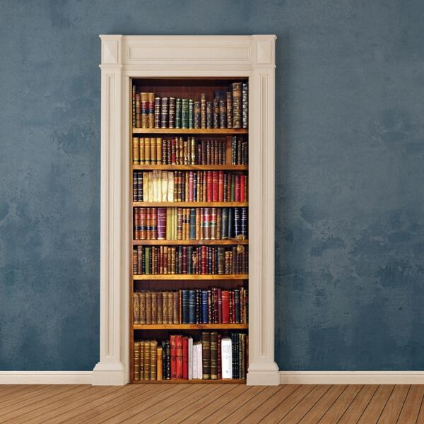 rivestimento per porta - old library