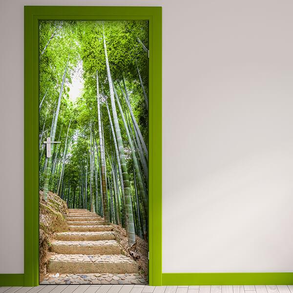 rivestimento per porta - bamboo forest