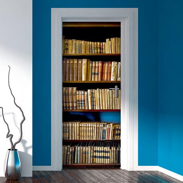 rivestimento per porta - libreria 1