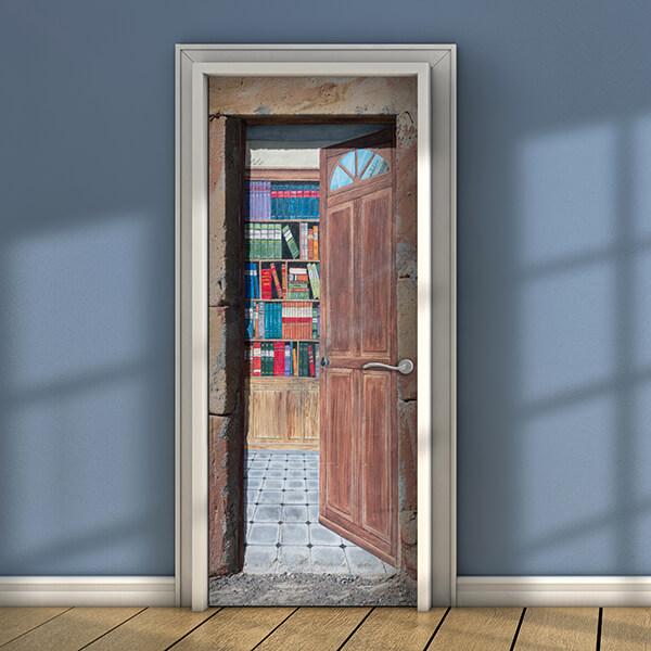 rivestimento per porta - library