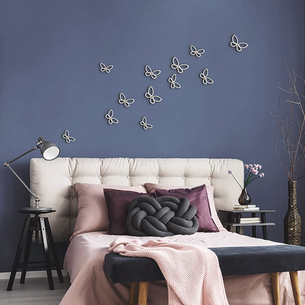 spring decor - white metal butterflies