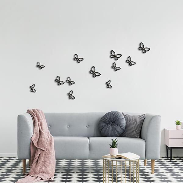 spring decor - black metal butterflies