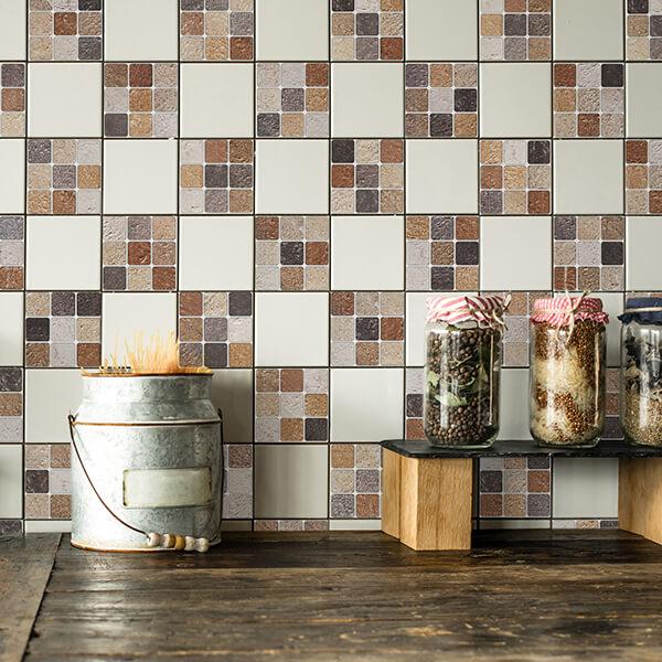 piastrelle adesive - terracotta