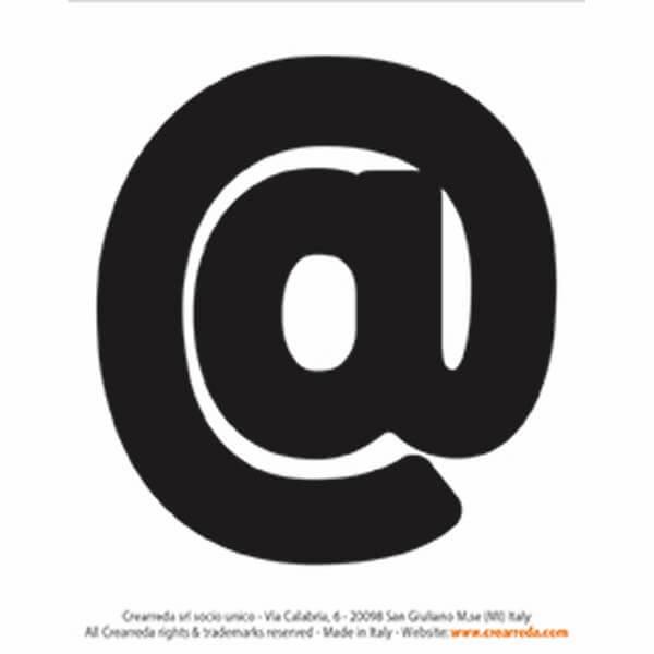 Lettera alfabeto adesiva - @