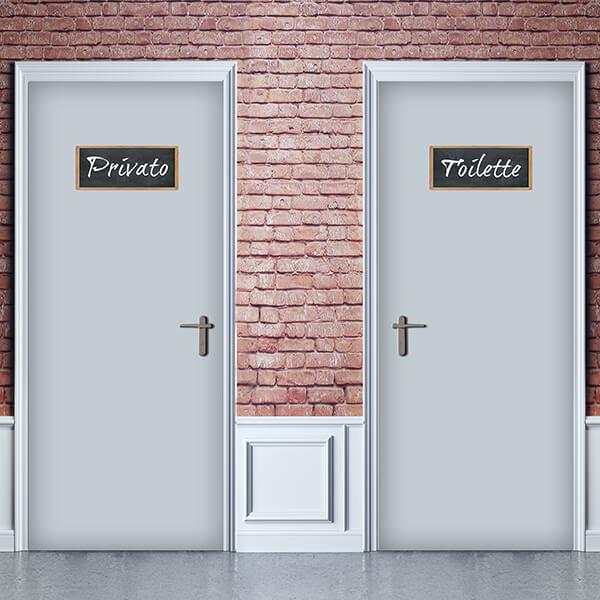 segnaletica adesiva per muri e vetri - classico - privato / toilette