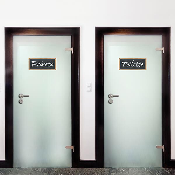 segnaletica adesiva per muri e vetri - classico - privato / toilette 1