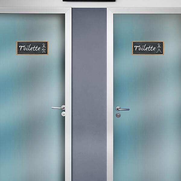 segnaletica adesiva per muri e vetri - classico - toilette 1