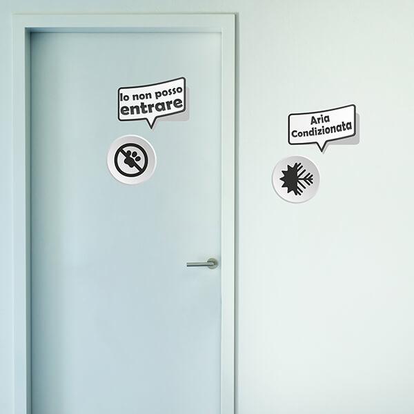 segnaletica adesiva per muri e vetri - moderno - aria condizionata