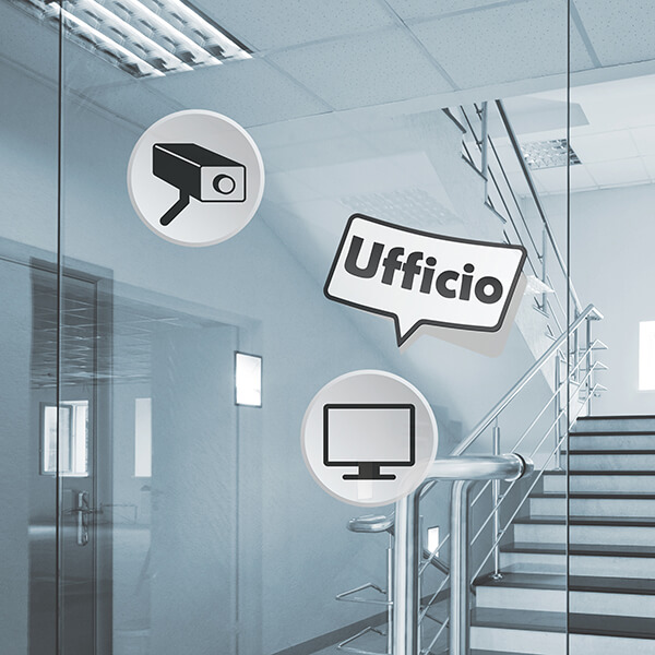 segnaletica adesiva per muri e vetri - moderno - ufficio 1