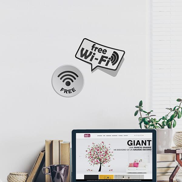 segnaletica adesiva per muri e vetri - moderno - wi-fi