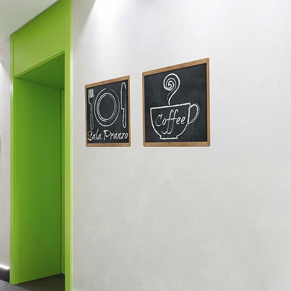 segnaletica adesiva per muri e vetri - classico - sala da pranzo IT