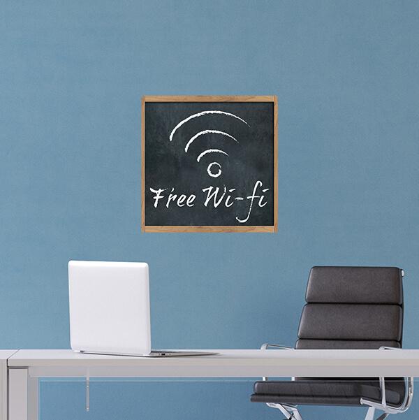 segnaletica adesiva per muri e vetri - classico - free wifi