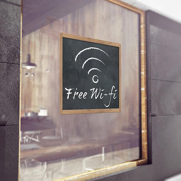 segnaletica adesiva per muri e vetri - classico - free wifi 1