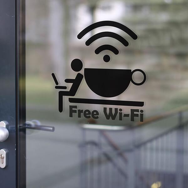 segnaletica adesiva per muri e vetri - moderno - free wifi