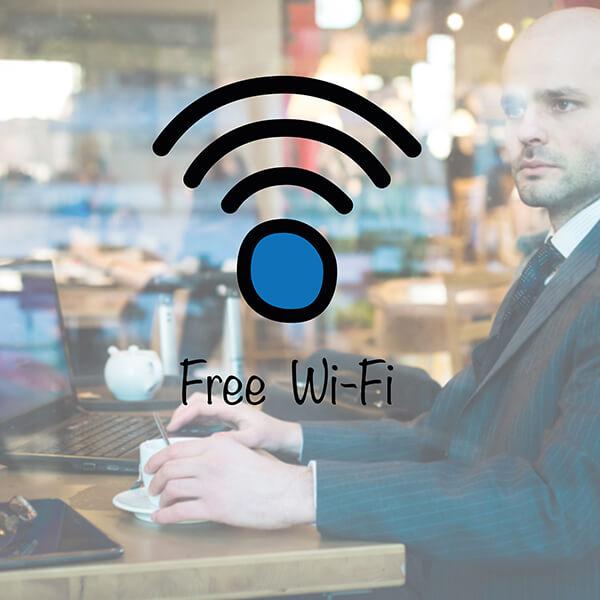segnaletica adesiva per muri e vetri - Free Wi-Fi 1