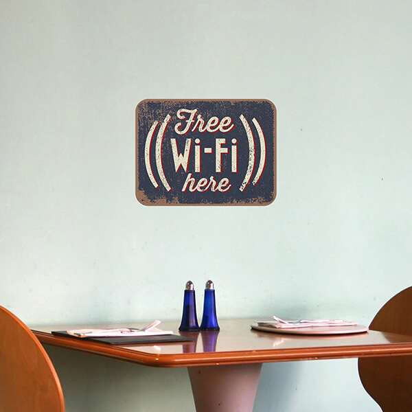 segnaletica adesiva per muri e vetri - Wi-Fi Tag