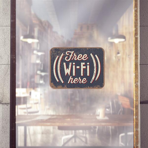 segnaletica adesiva per muri e vetri - Wi-Fi Tag 1
