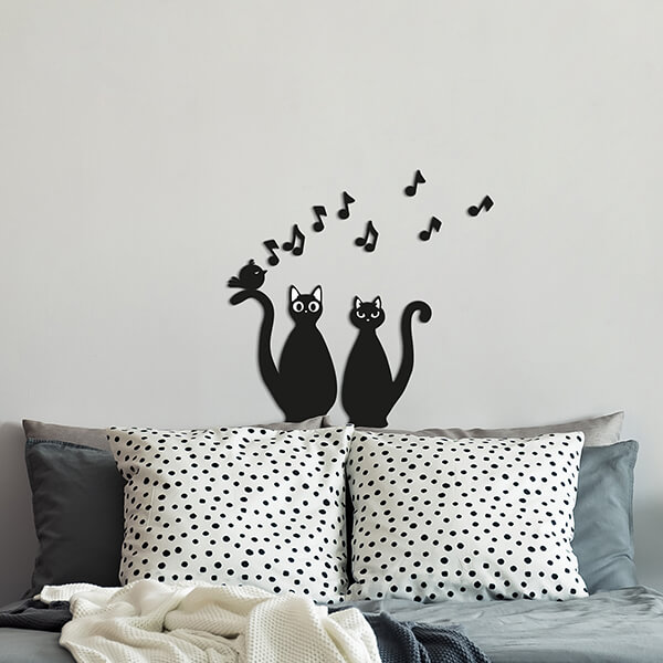 foam - cats silhouettes