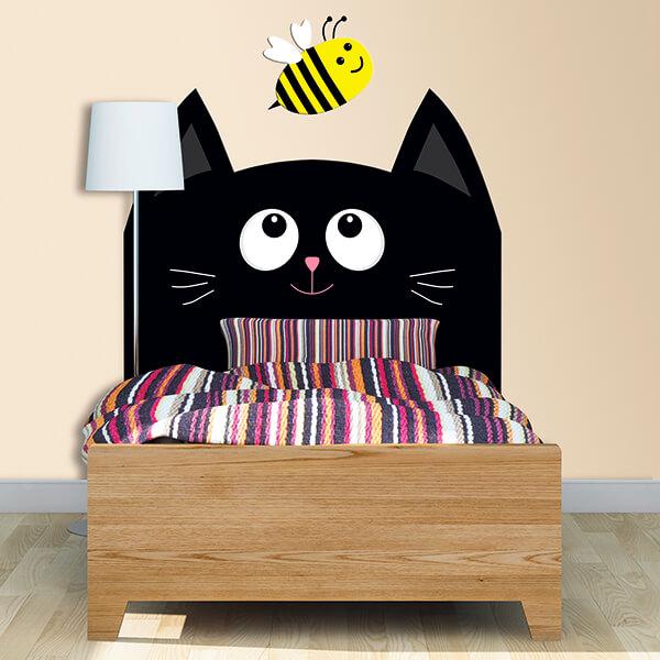 testiera letto singolo bimbi - gatto nero