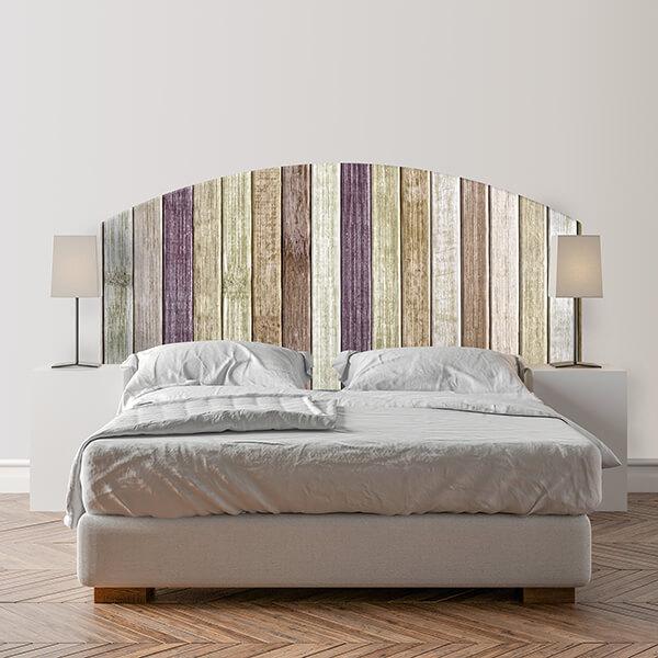 testiera letto matrimoniale - mixed wood