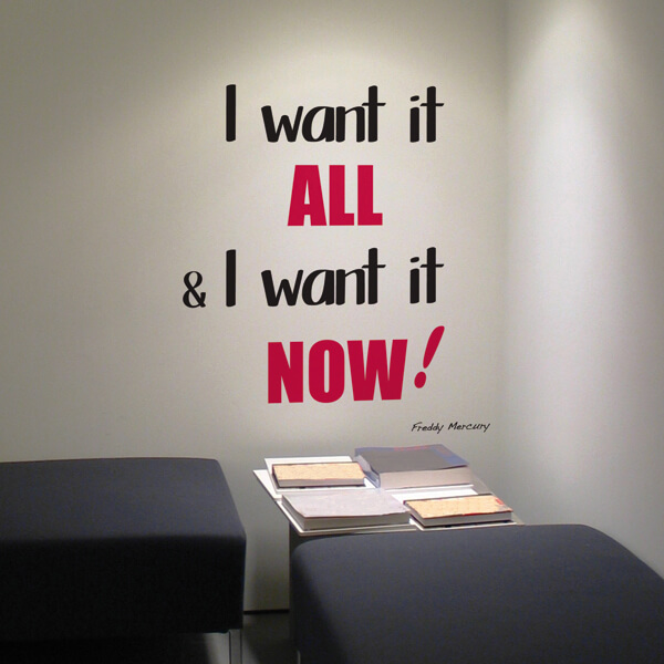 scritta adesiva - I want