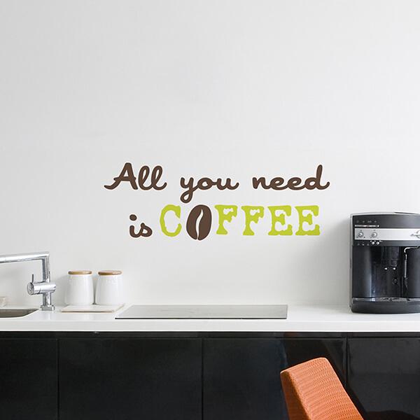 scritta adesiva - coffee