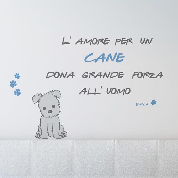scritta adesiva - amore per un cane