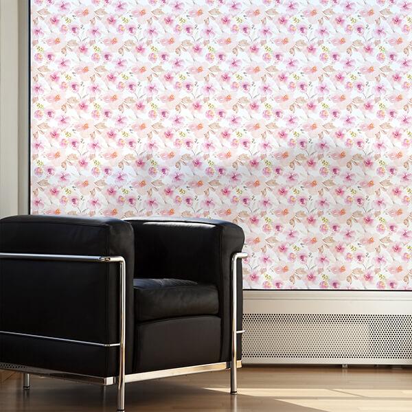 rivestimenti per vetri - pink flower