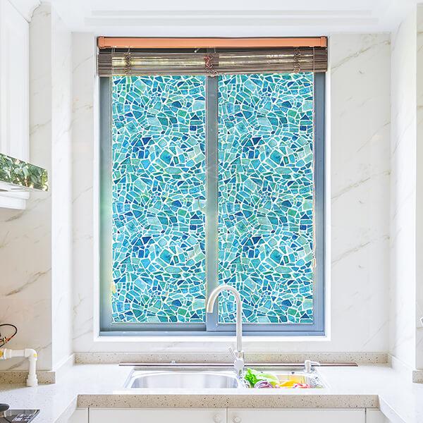 rivestimenti per vetri - blue mosaic