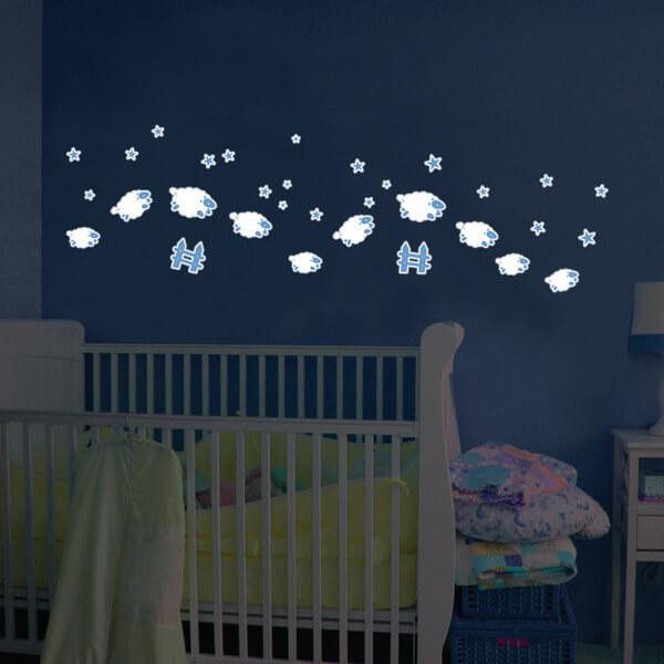adesivi murali glow - pesciolini