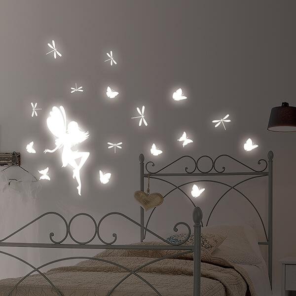 adesivi murali glow - fairy 1