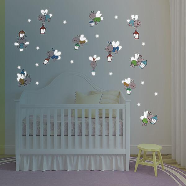 adesivi murali glow - sweet dreams