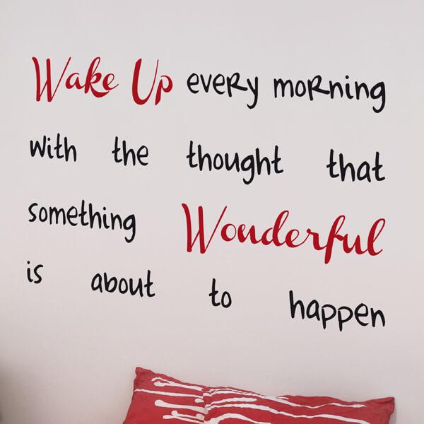 scritta adesiva - wake up