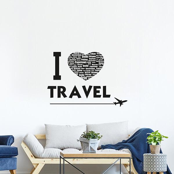scritta adesiva - travel