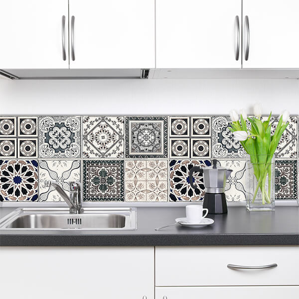 paraschizzi in alluminio bordure - grey azulejos