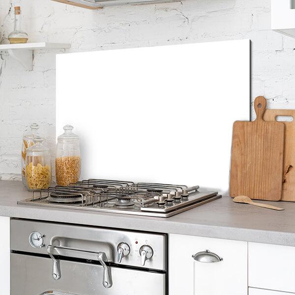 paraschizzi in alluminio panel - white