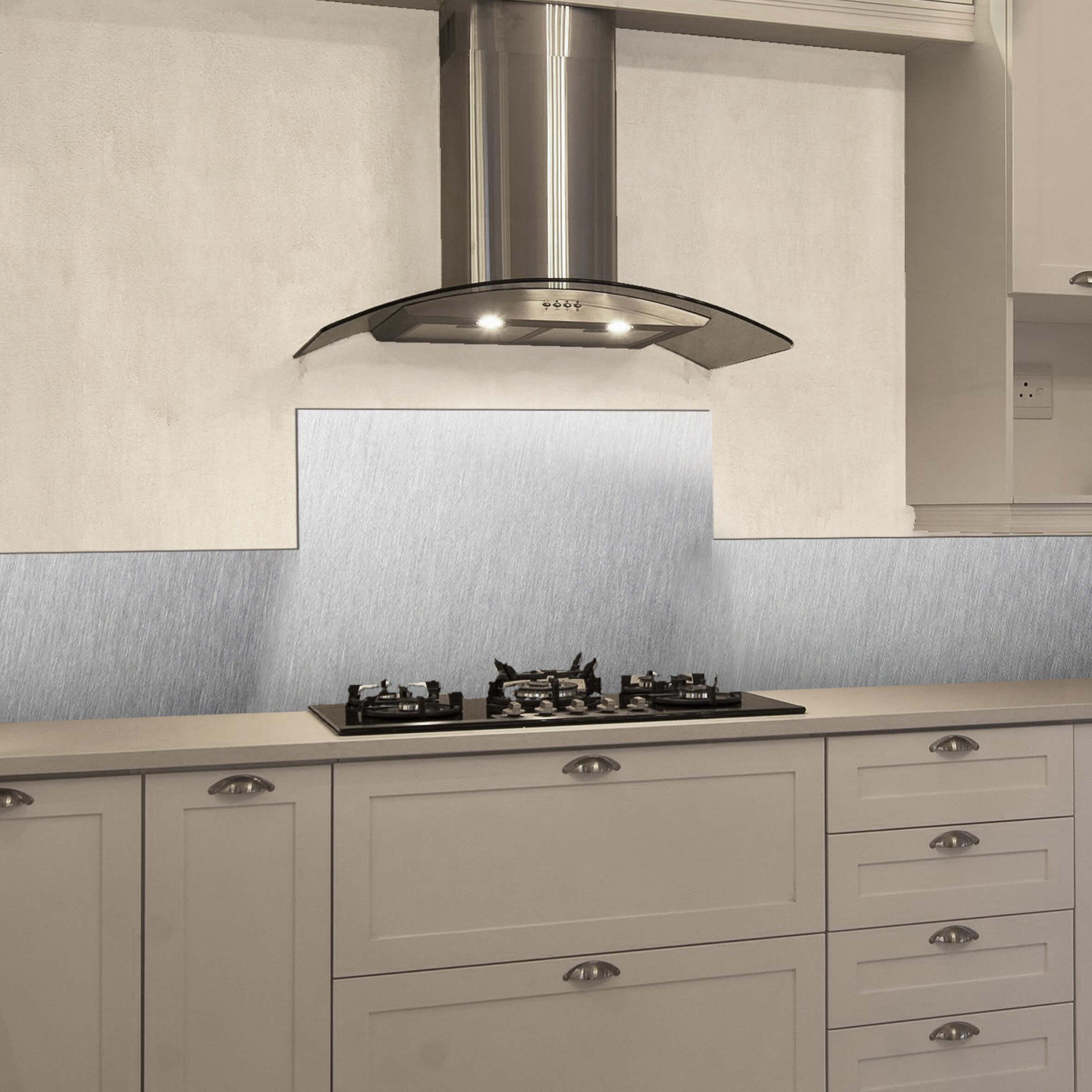 paraschizzi in alluminio bordure - brushed